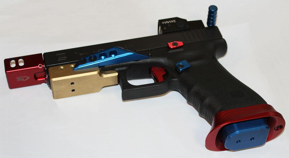 Pistolet GLOCK 17 Gen 4 MOS Fileté CUSTOM TLGS - Cliquer pour agrandir
